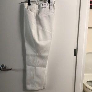 White House Black Market Pants - Winter white slim ankle pants!